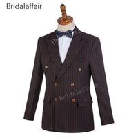 Wholesale good quality suits for men for sale - Group buy 2018 Fashion Plaid Wedding Suits For Men Good Quality Single Breasted Teo Buttons Men Suits pieces Jacket Pant Business Tuxedos