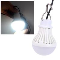 ingrosso lampadina principale ricaricabile usb-5W 5V Portable Hanging Tenda Luce LED Night Light USB Ricaricabile a LED Lampadina Campeggio emergenza esterna