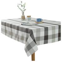 coberturas de mesa de coquetéis venda por atacado-Prático Boutique Toalhas de mesa moderna simples poliéster coon tingido à prova d 'água laice toalha de mesa home party hotel toalha de mesa