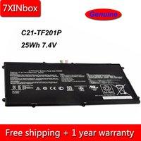 asus echt großhandel-7XINbox 25Wh 7.4V Original C21-TF201P Laptop Akku für Asus Eee Pad Transformator TF700 TF700T TF201 TF301 C21-TF500T
