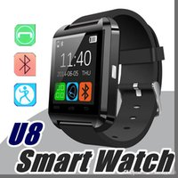 Wholesale cheap call phones - 10X Factory wholesale cheap U8 smartwatch U8 Bluetooth Smart Watch Phone Mate For Android IOS Iphone Samsung LG Sony With call reminder A-BS