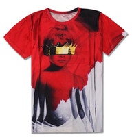 Wholesale digital albums online – design Rihanna album cover anti digital print DT T shirt with short sleeves