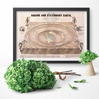 Wholesale ancient paintings art resale online - Poster Print Ancient Earth Canvas Art Print Square and Stationary Earth Retro Map Canvas Painting Wall Art Home Decor No Frame