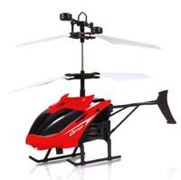 helicóptero de suspensión rc al por mayor-Mini avión de inducción Luminoso Suspensión de Carga Juguete Teledetección Helicóptero RC Juguetes para Niños Regalos de Navidad