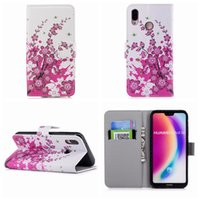 Wholesale case iphone usa - For Huawei P20 Lite Galaxy S9 Skin S9 Plus UK USA Flag Leather Wallet Cases Flower Butterfly Zebra Card ID Cash Flip Cover PU Purse Pouch