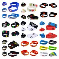 Wholesale Silicone Bracelet Game Day - Newest 300PCS Lot The Avengers Cartoon Movie Games Silicone Bracelet Wear This Latex-Free Silicone Wristband C0163