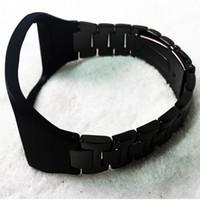 equipo de seguimiento al por mayor-Para las bandas de Samsung Gear S Pulsera con correa de muñeca de acero inoxidable, banda de reloj de metal para Samsung Gear S SM-R750 con herramienta (sin rastreador)