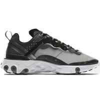 schuhe sneakers männer weiß großhandel-UNDERCOVER x Upcoming React Element 87er-Pack Weiße Sneakers Marke Herren Damen Trainer Herren Damen Designer Laufschuhe