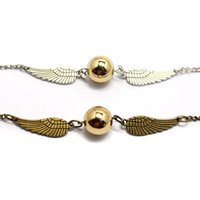 Wholesale United Wings - 2018 Europe United States Popular Hot Golden Snitch Pocket Bracelet Wings Vintage Retro Tone For Men And Women's Jewelry Holiday Gift