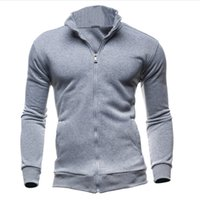 плюс кардиганы с капюшоном оптовых-Wholesale-2017 Autumn Winter Fleece Hoodies Men Running Jackets And Coats For Men Cardigans Zipper Fitness Hoody Plus Size 3XL 905793