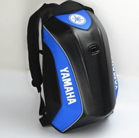 Wholesale motocross tools online - 2018 Latest Waterproof Motorcycle backpack For Yamaha Carbon Fiber Hard Shell Motocross Bag Multifunctional Riding Backpack