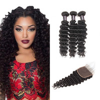 Wholesale brazilian human hair cheap prices for sale - Silky Straight inch Hair Bundles With Closure Water Wave Loose Wave Cheap A Brazilian Hair Human Hair Extensions Price