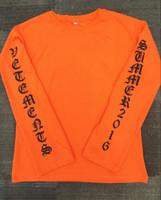camiseta larga bigbang al por mayor-Bigbang GD Diseñador de la marca para hombre Camiseta de manga larga Hombre Casual Hip Hop Oversize Pullover High Street Shirt