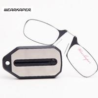 WEARKAPER new Mini Dobrável Óculos de Leitura Titanium Óculos Homens Oculos  De Grau Com chaveiro Caixa Original 1.0 1.5 2.0 2.5 3.0 9bfb205a91