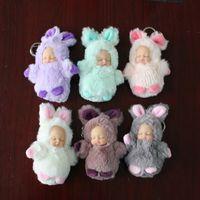 Wholesale Wholesale Reborn Doll - BOOKFONG 1PC 13CM Sleeping Baby Keychain Reborn Lifelike Plush Sleep Calm Baby Doll Soft Toys Newborn Dolls Collectible Toys