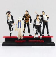 Wholesale michael jackson figures - Michael Jackson PVC Action Figure MJ Collection Model Toy 12cm New in Retail Box 5pcs set retail