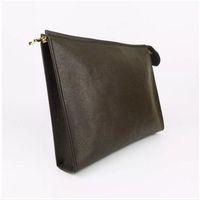 sutyen çantaları siyah toptan satış-Tasarımcı Cüzdan mektup çiçek Kahve Siyah kafes erkek çanta kadın cüzdan Kozmetik çantası fermuar Çanta Tasarımcısı çantalar 47542 KUTUSU ile Gel
