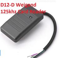 leitor 125khz venda por atacado-10 Conjuntos D12-D Rfid 125KHZ / Leitor de Cartão de Identificação sem Contato / Leitor de Cartão de Controle de Acesso Com Weigand 26 34 WG26 / 34 Para TK EM Sistema de Entrada de Porta