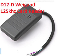 control de acceso 125khz rfid al por mayor-10 Sets D12-D Lector de tarjeta de identificación sin contacto RFID 125KHZ / ID Lector de tarjeta de control de acceso con Weigand 26 34 WG26 / 34 Para sistema de entrada de puerta TK EM