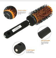 rodillos de pelo de peluquería al por mayor-Abody CeramicNylon cepillo de pelo redondo peluquería peluquería herramientas de peinado rizado cepillo para el cabello masaje bomba quiff rodillo peine