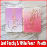 maquillaje blanco mate al por mayor-Nuevo maquillaje White Peach 12 Color Just Peachy paleta de sombras de ojos sombras de ojos mates multi palidez melocotón sombra dulce
