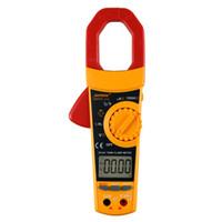 capacidad de rango automático del multímetro al por mayor-DM500 Digital Clamp Multimeter Auto Range 6000 Counts Pantalla LCD Amperímetro AC / DC Voltímetro Medidor de capacitancia de resistencia