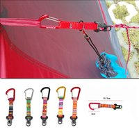 Wholesale clasp types - Ethnic Style Multi Function Reflect Light Rope Buckle S D Types Outdoors Camping Cords Clasp EDC Mini Elastic Tents Buckles 3cf X