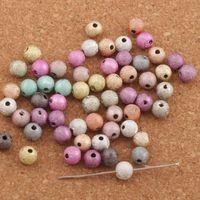 Wholesale 6mm Cube - 1000pcs lot Colorful Scrub Matte Round Beads 6mm Acrylic Beads L3043 Jewelry DIY Loose Beads Hot
