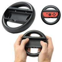 steuersteuerung steuern großhandel-Ein Paar Racing Game Lenkrad Handgriff Griffhalter für NS Schalter Joy Con Controller Gamepad Zubehör