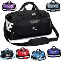 omzalı omuz çantaları toptan satış-Su geçirmez Oxford Spor Yoga El Bagaj Omuz Çantası Spor Eğitim Ayakkabı Çanta Basketbol Çanta Çanta Açık Seyahat Duffel Çanta Tote