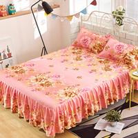 Wholesale queen suite - Bed Skirt Korean Bedspread Suite Single Bed Single Hat Bedspread 1.8   1.5   1.2 meters