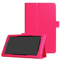 amazon folio großhandel-Tablet Flip Ständer Litchi Ledertasche mit Ständer für Amazon Kindle Fire HD 7 2015 2017 Version schützende Haut Shell + Stylus