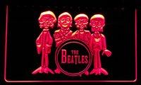 ingrosso arredamenti beatles-LS076-r la decorazione al neon della luce della luce della barra del tamburo di Beatles il trasporto libero Dropshipping del commercio all'ingrosso 8 colori da scegliere