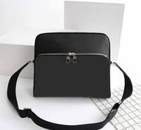 Wholesale single strap man bags - Men Women's Genuine leather Messenger bag Tuileries handbag Graphite Briefcase Voyager PM Toron Crossbody bag with straps M41408 M41409