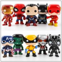 Wholesale Vinyl Figures Pop - 10cm FUNKO POP 10pcs set Justice Action Figures Avengers Super Hero Characters Model Vinyl Action Figures Novelty Items CCA9573 10set