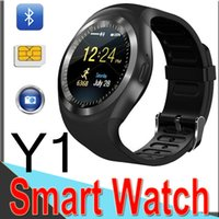 Wholesale y1 smart watch online - Y1 Smart Watchs for Android Smartwatch Samsung Cell Phone Watch Bluetooth for Apple Iphone with Retail Package Factory Outlet XCTY1
