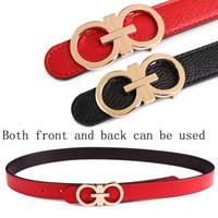jeans rojos para mujeres al por mayor-Diseñador de cinturones blancos Correa de las mujeres de cuero genuino de alta calidad Famous Brand ladies 'Belt para Jeans Falda niñas Pin rojo Buckle2.3