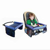 ingrosso cintura di sicurezza del viaggio per bambini-Baby Toddlers Cintura di Sicurezza Auto 5 Colori Viaggi Gioco Vassoio tavolo pieghevole impermeabile Copertura Seggiolino Auto per Bambini Harness Buggy Passeggino Snack 10 PZ