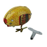 ingrosso pulcini per bambini giocattolo-Alta qualità Wind Up Pecking Chick Modello Toy Collezione regalo Classic Baby Toy Regalo di compleanno Wind Up Toys per bambini da collezione