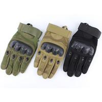 Wholesale Wholesale Women S Fashion Gloves - Army Tactical Gloves Outdoor Sports Full Finger Combat Motocycle Slip-resistant Carbon Fiber Tortoise Shell fashion 210103