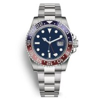 Wholesale mens watches resale online - New Top Mens Watches Men Pepsi GMT Blue Red Ceramic Bezel Automatic Stainless Strap Solid Clssp Sports Self wind Watches Wristwatches