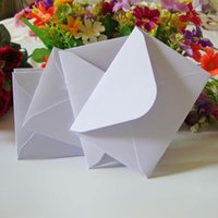 Wholesale Small Invitations Card - Wholesale- 100Pcs LxW: 11x8cm white Mini Kraft Envelope Business VIP Card Small Wedding Party Invitation Card Paper Envelopes office