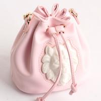 Wholesale Lion Drawings - Ceramic lion head bucket handbag mini rabbit bag draw belt chain bag wrapped belt package mini female kits
