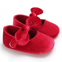 носки первого ходунки оптовых-2018 Spring Summer Newborn Toddler Shoes Velvet Bow Princess Soft Socks Fashion Baby Girl Children The First Walker
