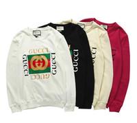 cuello redondo de la chaqueta del hombre al por mayor-Diseñador para hombre sudaderas con capucha Classic LOGO suéter marca de lujo cuello redondo suéter de manga larga de los hombres de moda damas suéter amantes