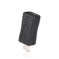 conector micro usb cargador macho al por mayor-Mini USB macho a micro USB hembra tipo B cargador adaptador conector convertidor