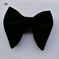 esmoquin unico al por mayor-Ikepeibao Wedding Mens Velvet Black Bowties Corbatas Mans Unique Tuxedo Bowtie