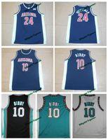 Wholesale University Blue Shirt - Throwback Arizona Wildcats College Basketball Jersey 10 Mike Bibby 24 Andre Iguodala Navy Blue Shirts University Stitched Jerseys S-XXL