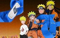logo kafa bandı toptan satış-10 adet / grup ANIME Naruto Bandı 95 cm Yaprak Köy Logosu Konoha Kakashi Akatsuki Üyelerinde Cosplay Kostüm Aksesuarları mavi kırmızı siyah stokta