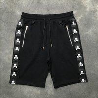 ingrosso scheletro cerniera-2018 nuovo di alta qualità kanye west mastermind giappone nastro stampa scheletro pocket zipper uomo shorts hip hop coulisse pantaloncini